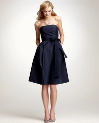 Ann Taylor Silk Taffeta Strapless Bridesmaid Dress in Blue ...