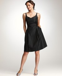 Lyst - Ann Taylor Silk Taffeta Vneck Bridesmaid Dress in Black