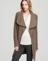 Joie Janet Shawl Collar Sweater Coat in Brown (smokey ...