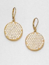 Kate Spade Pav Disc Drop Earrings in Gold | Lyst