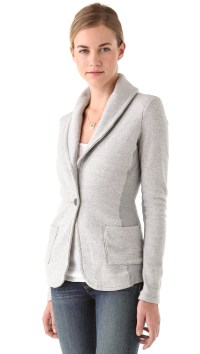 Lyst - James Perse Old School Shawl Collar Jacket in Gray