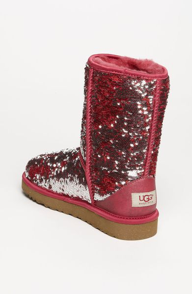 Ugg Classic Short Sparkle Boot Women In Red Ruby Lyst