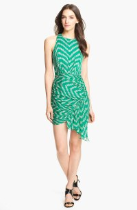 Milly Silk Sheath Dress in Green (mentino) | Lyst
