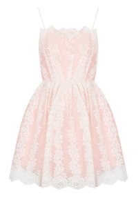 Topshop Petite Strappy Lace Prom Dress in Pink   Lyst