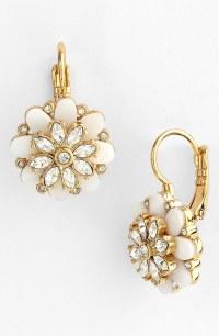 Kate Spade Bungalow Bouquet Drop Earrings in Gold (cream ...