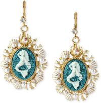 Betsey Johnson Antique Goldtone Mermaid Medallion Drop ...