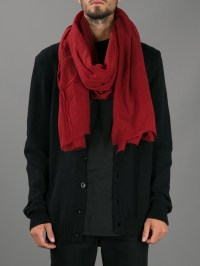Lyst - Destin Frayed Unisex Pashmina in Red for Men