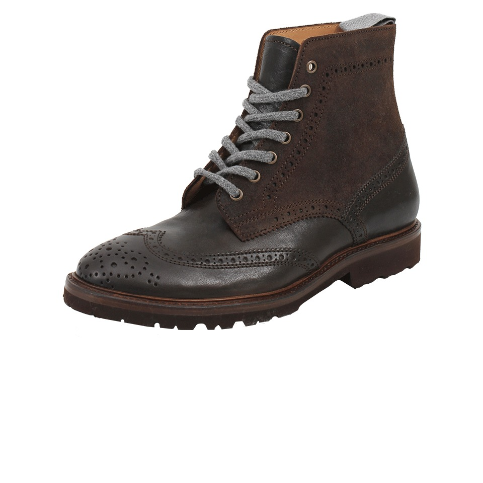 Brunello Cucinelli Mens Wingtip Ankle Boot In Brown For