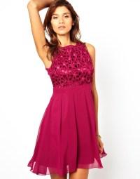 Little mistress Babydoll Prom Dress with Cornelli Trim in
