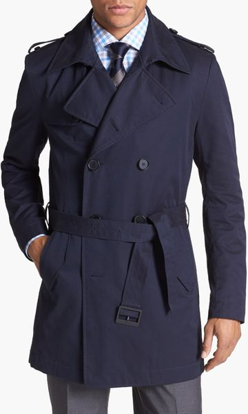 Shopping For Jewelry Boss By Hugo Boss Double Breasted Trench Coat In Blue For
