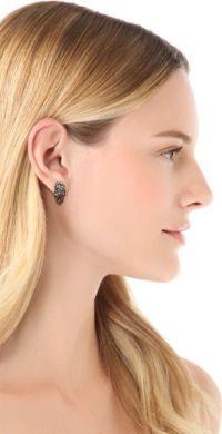 Alexis Bittar Huggie Earrings in Silver (Metallic) | Lyst