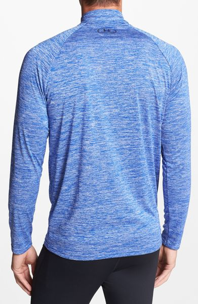 Adidas Pullover Sweatshirt Under Armour Tech Quarter Zip Pullover In Blue For Men