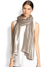 Bajra Glitter Twill Weave Scarf in Gold (PEWTER) | Lyst
