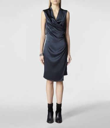 Allsaints Carina Dress in Blue (Ink) - Lyst