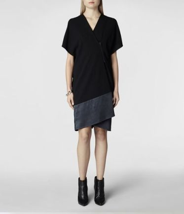 Allsaints Alvar Dress in Black (Black/Ink) - Lyst
