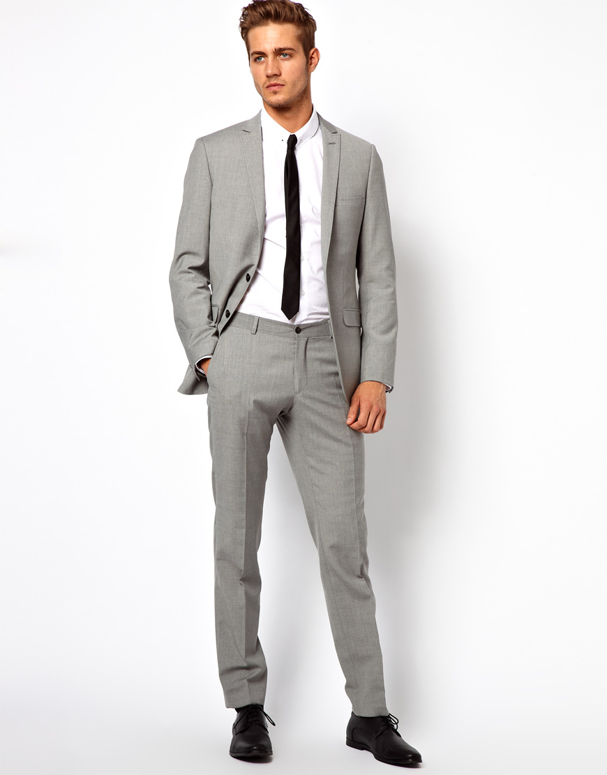 Grey Colour Formal Pant Lyst G Star Raw Esprit Slim Fit Suit Pants In Gray For Men