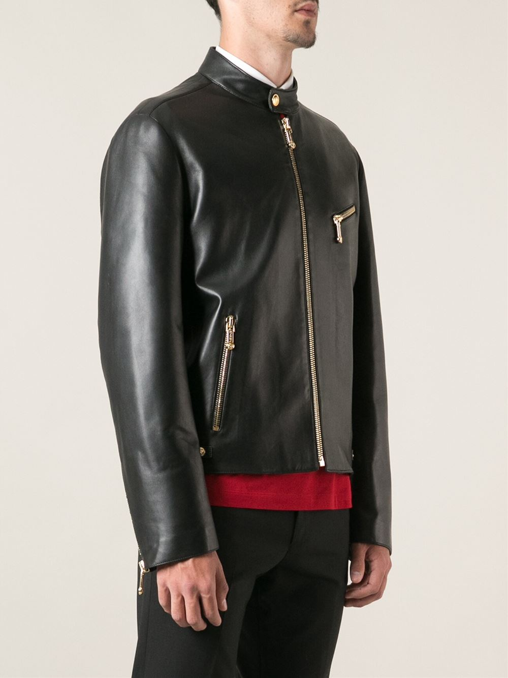 Nike Windrunner Jacket Black Versace Classic Leather Jacket In Black For Men Lyst