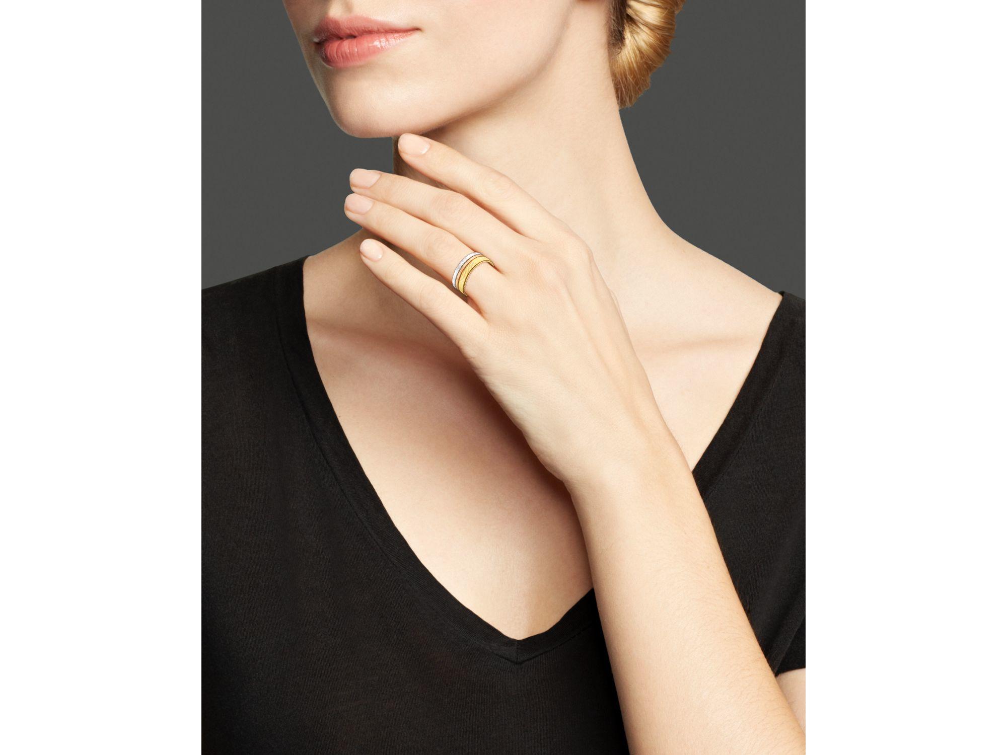 Lyst Marco Bicego Rose White Gold Goa Ring In Metallic