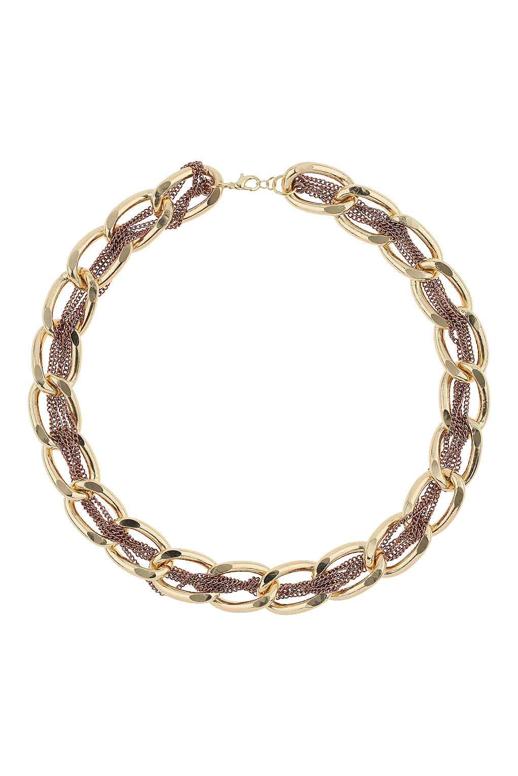 Topshop Woven Chains Chunky Necklace In Metallic Lyst