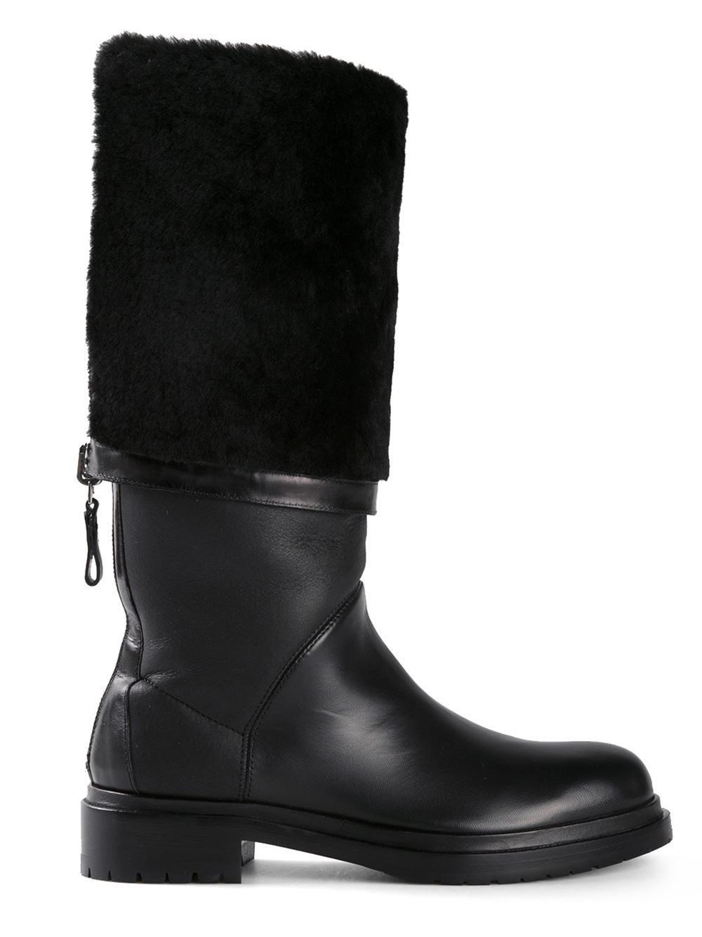 Sergio Rossi 39kiev39 Boots In Black Lyst