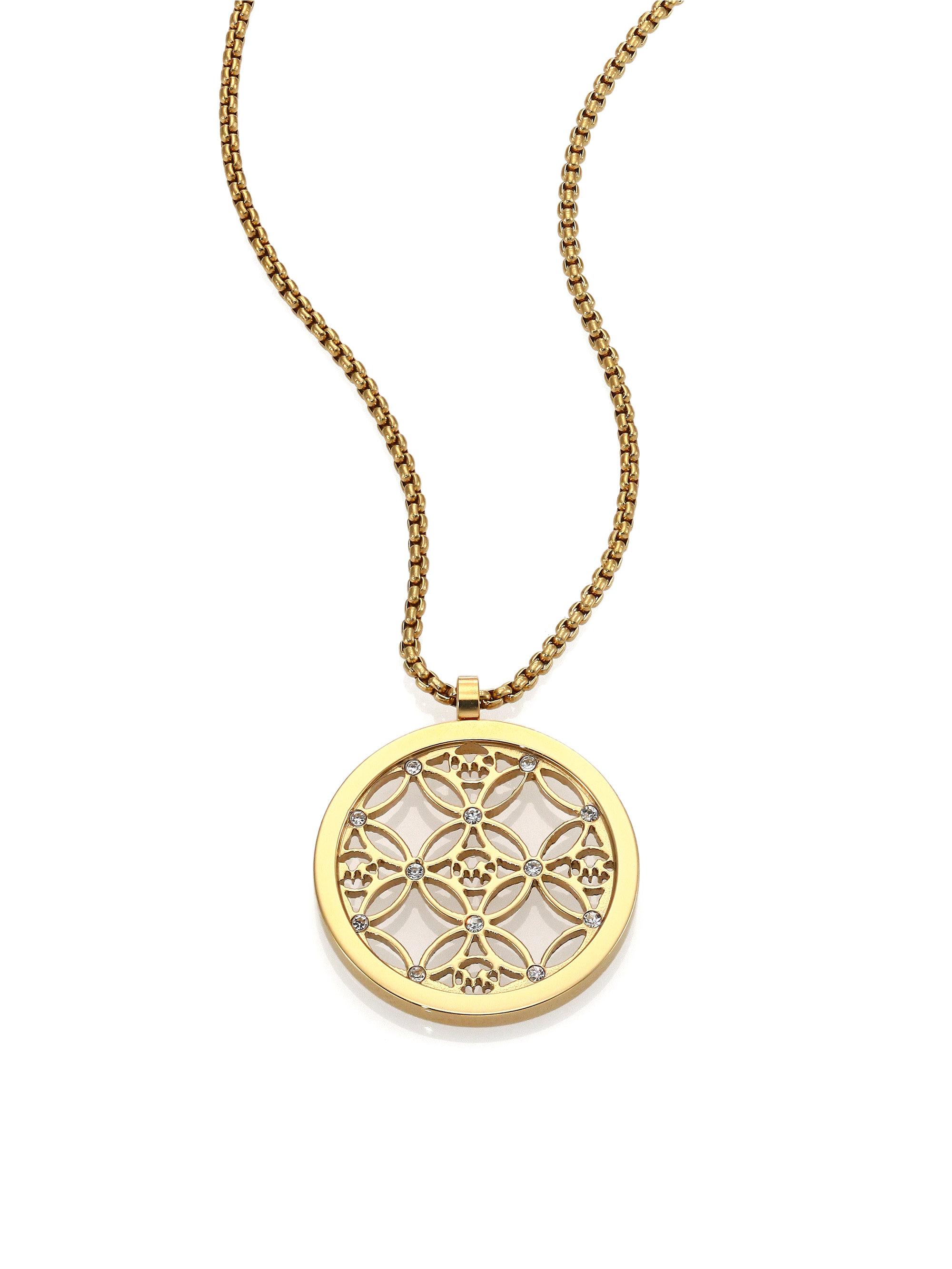 round monogram necklace
