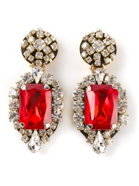 Lyst - Stella Jean Crystal Drop Earrings in Red