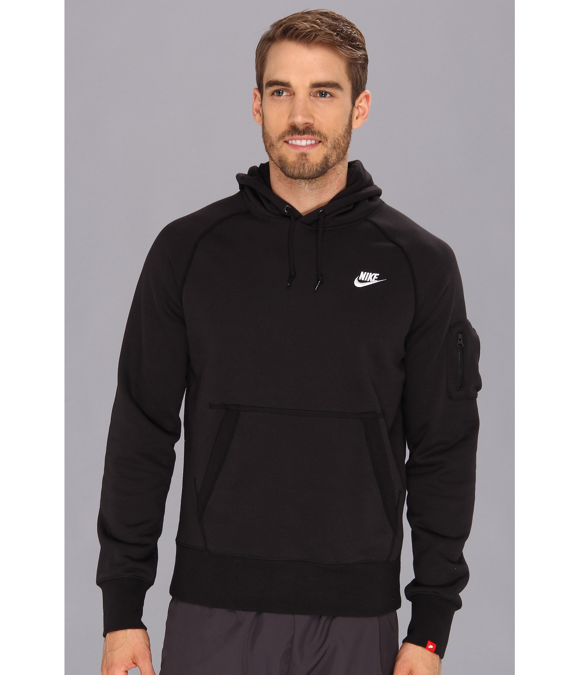 Nike Pullover Fleece Lyst Nike Aw77 Fleece Pullover Hoodie In Black For Men
