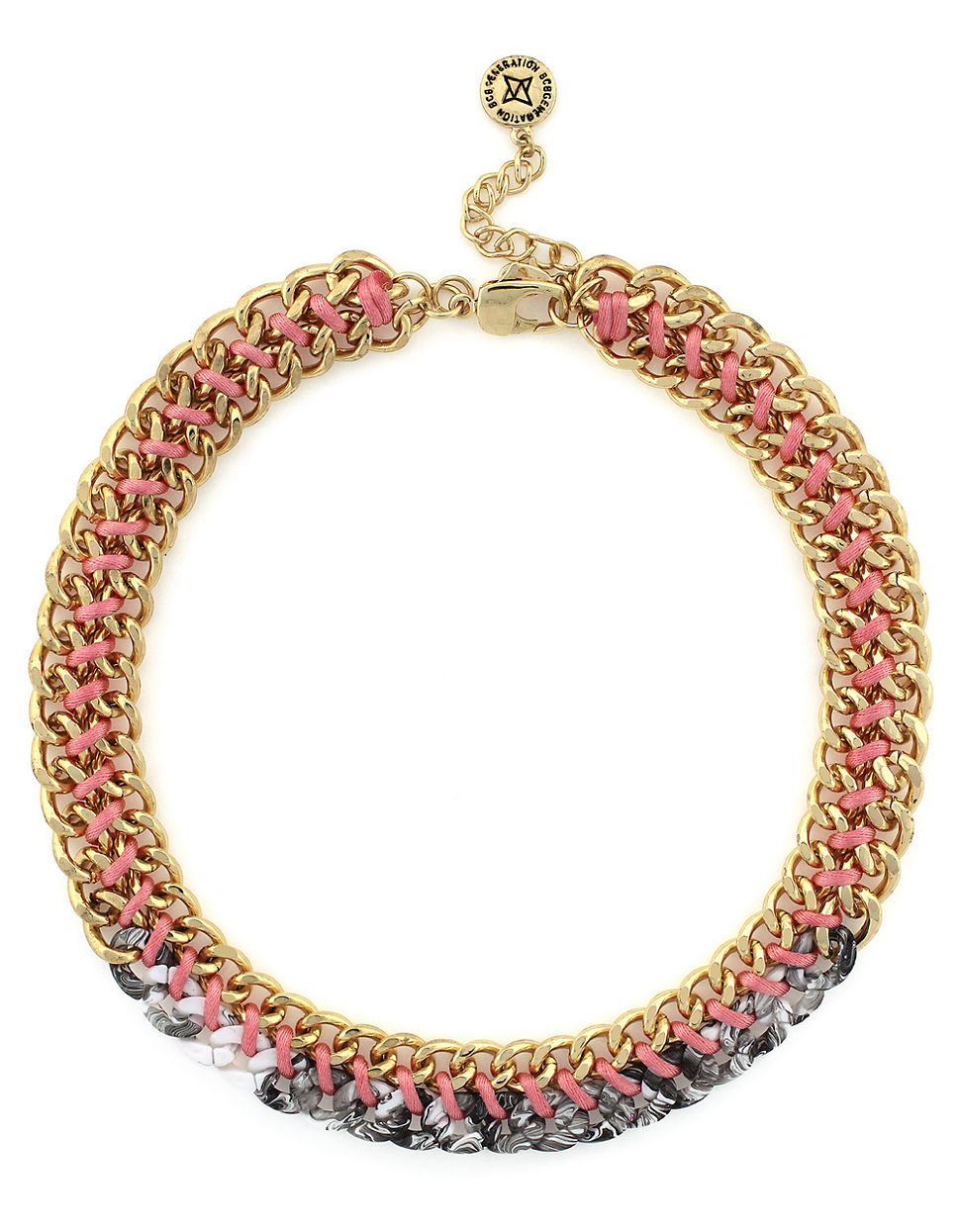 Bcbgeneration Thats Marbelous Woven Necklace In Gold