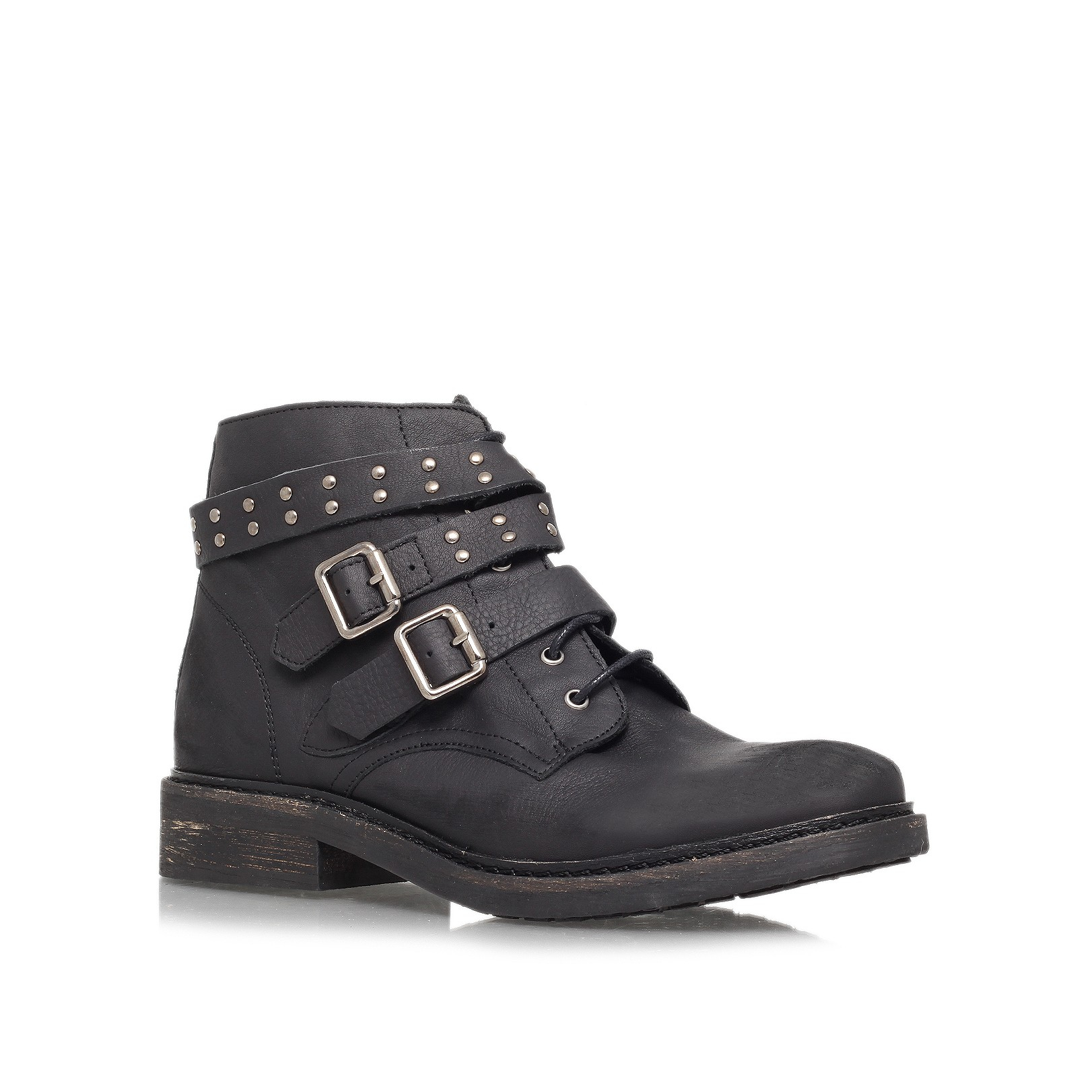 Lyst Kg By Kurt Geiger Search Lace Up Boots In Black