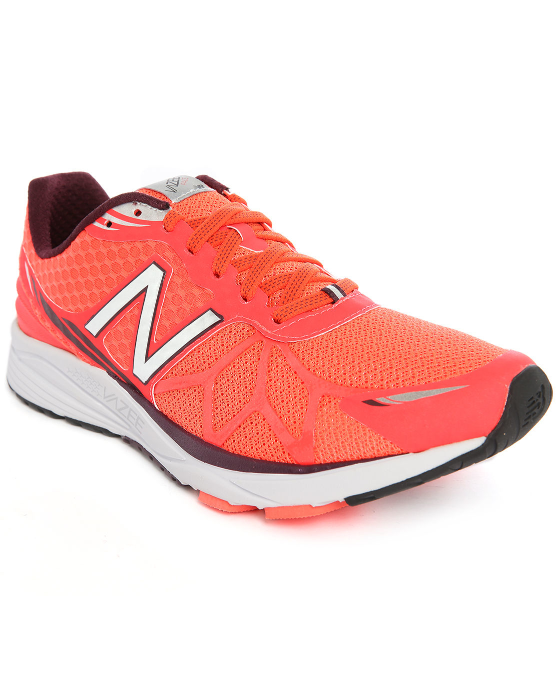 Orange Pacé New Balance Running Pace Orange-white Mesh Trainers In