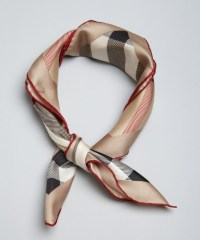 Lyst - Burberry Tan Nova Check Silk Scarf in Natural for Men