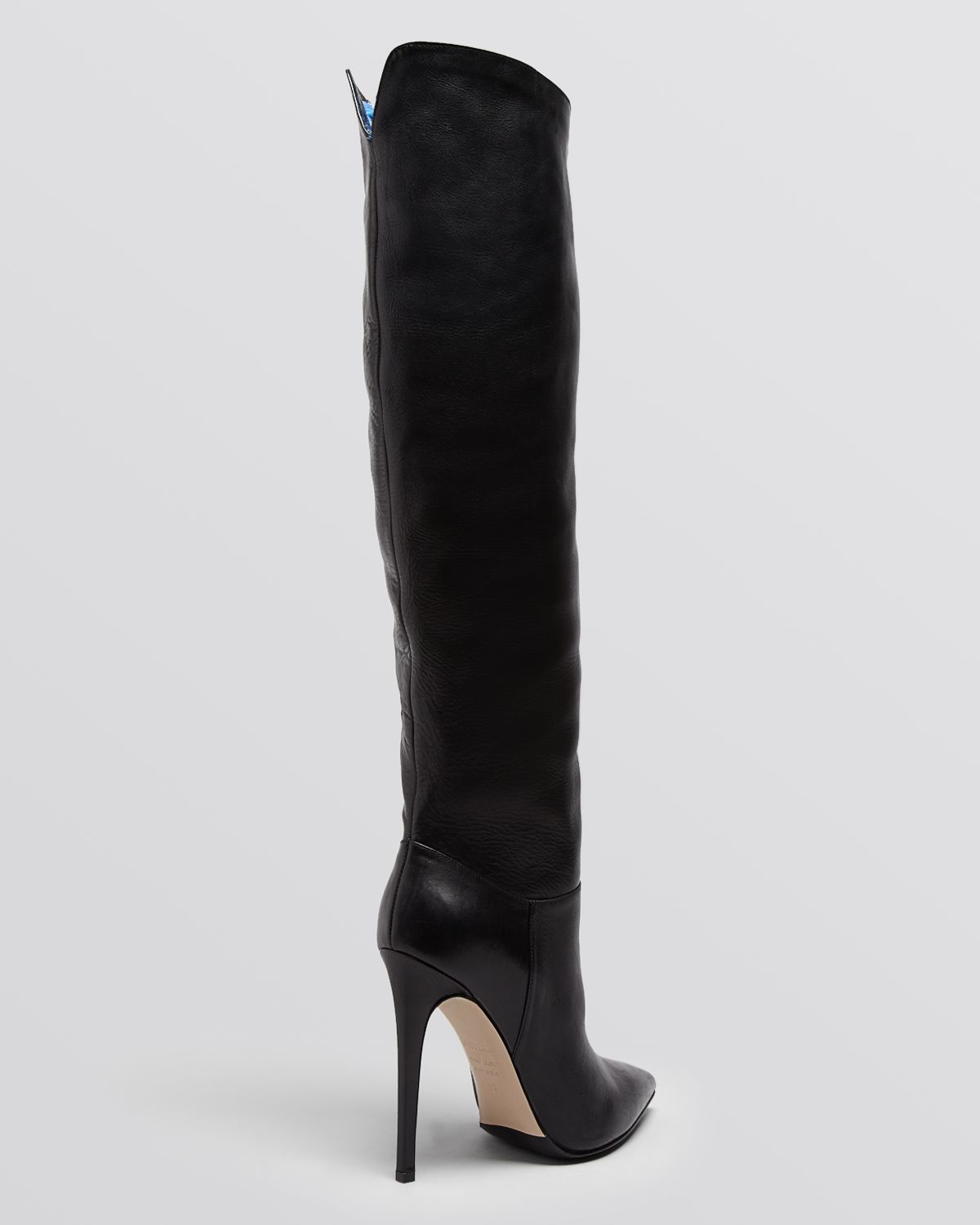 Le Silla Boots Lyst Le Silla Tall Pointed Toe High Heel Boots In Black