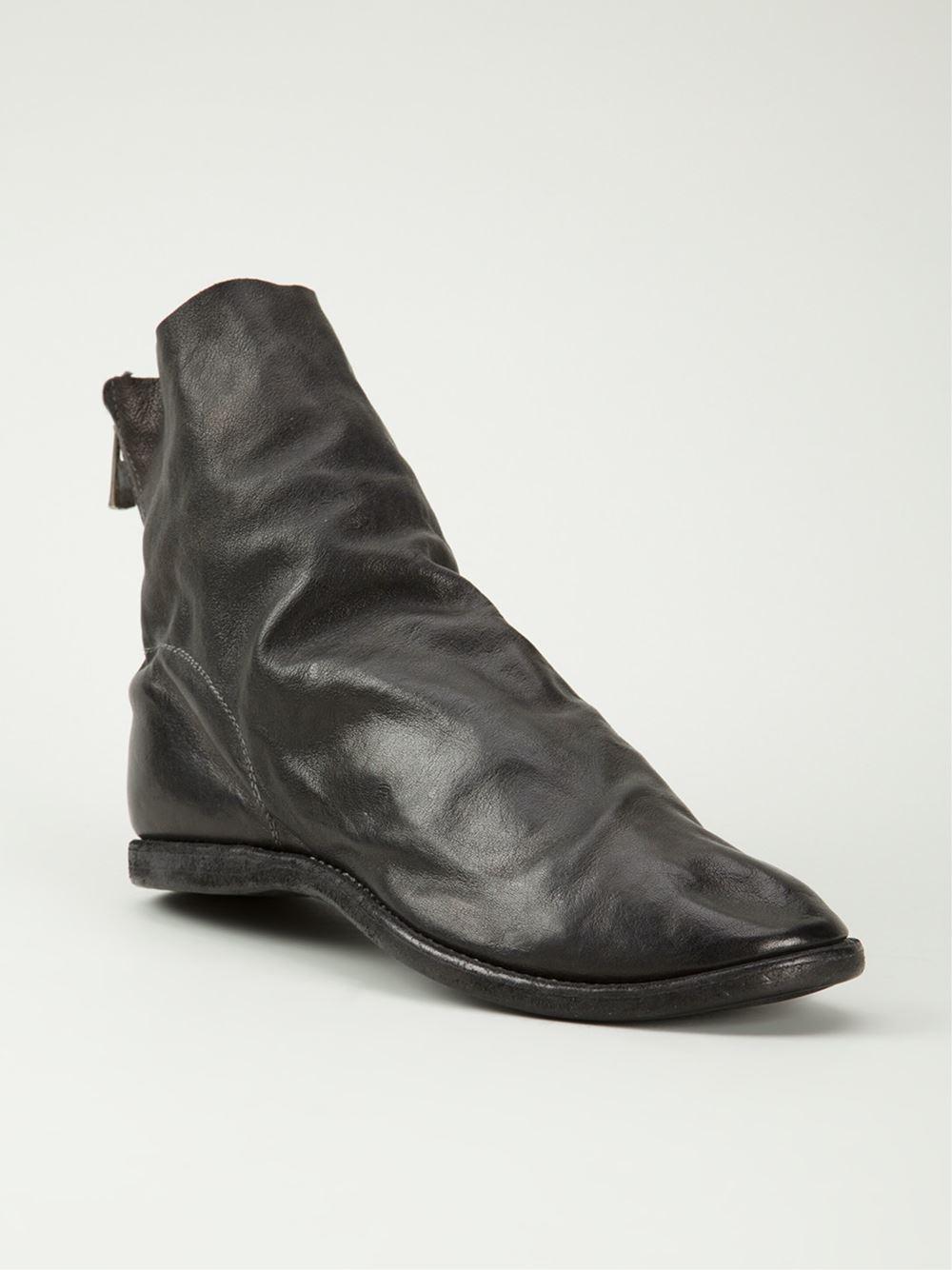 Lyst Guidi Kangaroo Back Zip Boots In Black For Men