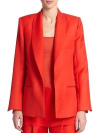 Lyst - Adam Lippes Shawl-collar Blazer in Red