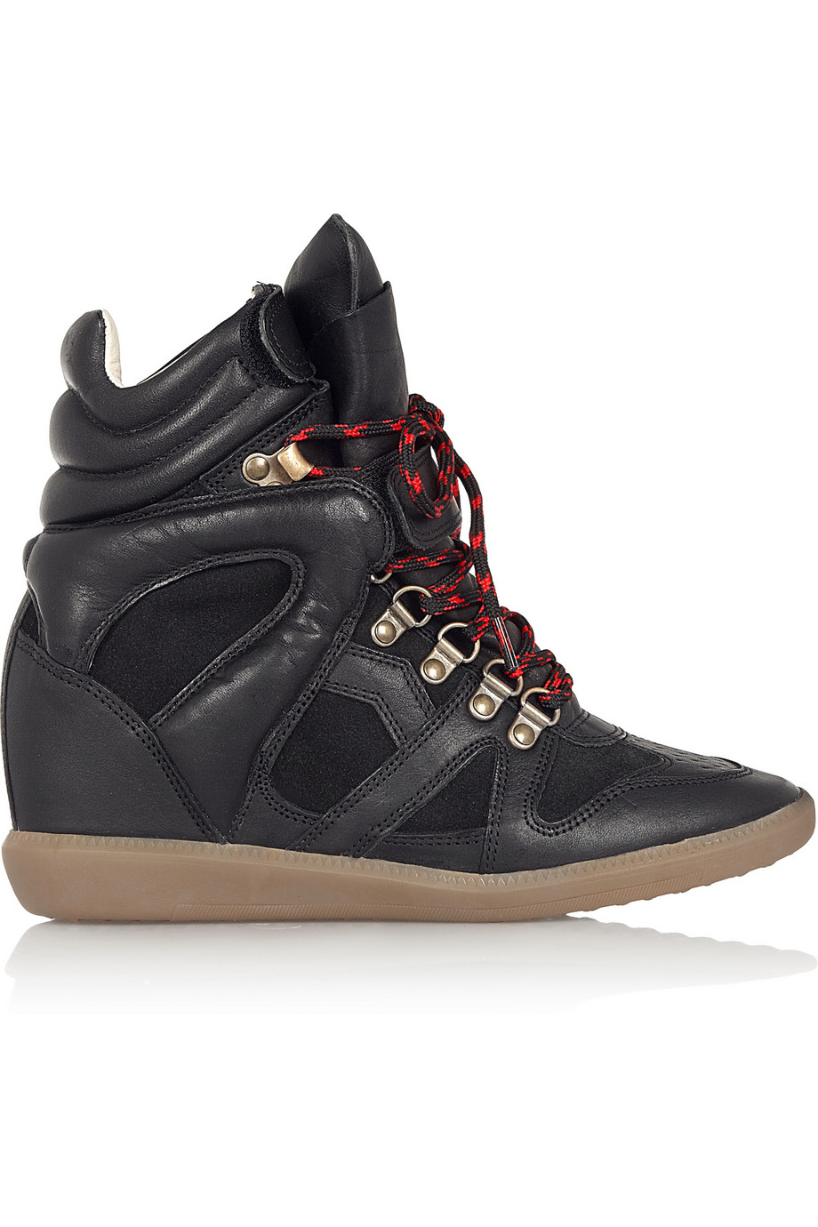 Lyst Isabel Marant Etoile Buck Leather And Suede Wedge