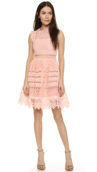 Alexis Sage Embroidered Dress in Pink | Lyst