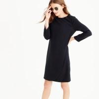 J.crew Petite Overlapped Long-sleeve Shift Dress in Black ...