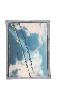 Lyst - Yigal Azroul Free Fly Scarf in Blue