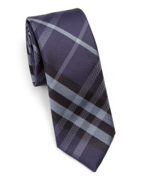 Burberry Manston Checked Silk Tie in Gray for Men | Lyst