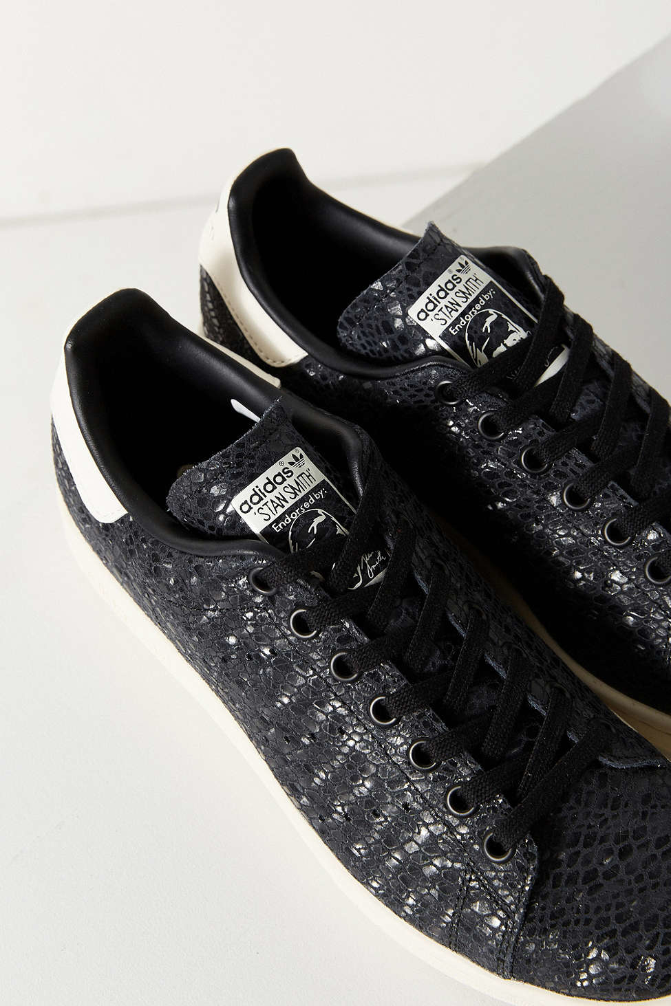 Iphone Cases Lyst - Adidas Foil Snake Stan Smith Sneaker In Black