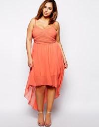 Lyst - Ax Paris Plus Size Plain Chiffon Drop Back Dress in Red