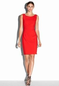 Lyst - Milly Zip Sheath Dress in Red