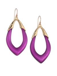 Alexis bittar Lucite Marquis Orbit Drop Earrings in Purple ...
