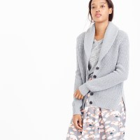 Lyst - J.Crew Shawl-collar Cardigan Sweater in Gray