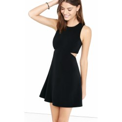 Small Crop Of Black Fit And Flare Dress