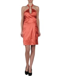 Patrizia pepe Knee-length Dress in Gold (Copper) | Lyst