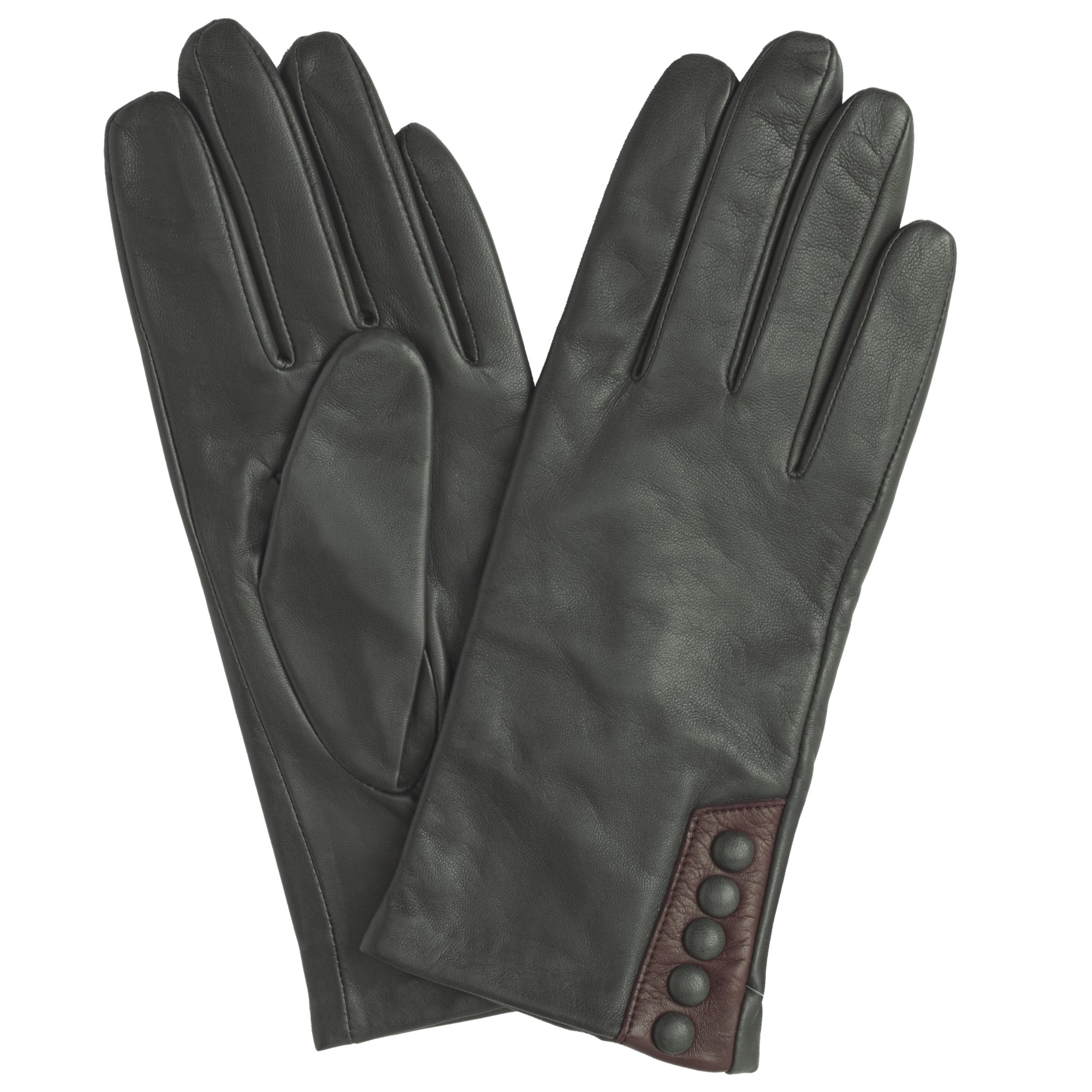 John lewis gray 5 button leather gloves lyst