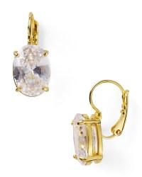 Kate spade Draped Jewels Oval Drop Earrings in Metallic | Lyst