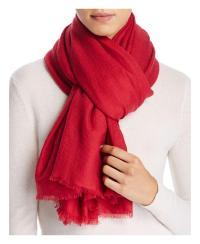 Lyst - Yarnz Solid Lightweight Wool Scarf in Red