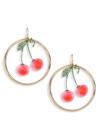 Alexis bittar Lucite Luna Crystal Cherry Hoop Earrings/2 ...